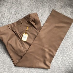 Nordstrom Brown Flat Front Dress Pants *NWT*